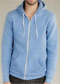 Alternative Apparel Zip Hoodie Rocky Eco-Fleece Zip Hoodie Royal - $29.99