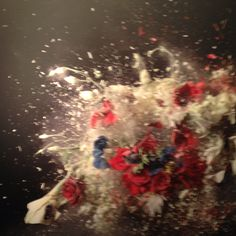 Ori Gersht. Israeli artist. Freeze dries flowers, blows them up, photographs them.