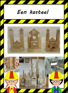 De bouwhoek: Bouwinspiratie Block Center, Toddler Activities, Art Lessons, Mandala, Castle, Construction, Projects, Crafts, Inspiration