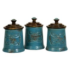 I pinned this 3 Piece Provincial Canister Set from the All in the Details event at Joss and Main!