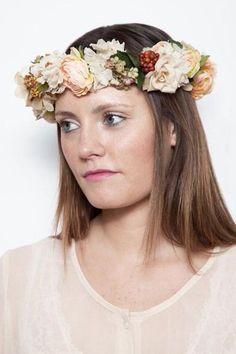 In full bloom - a luscious flower crown.