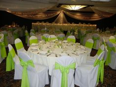 Lime green wedding color.  Embassy Suites Bloomington Minnesota.   Www.embassyweddings.com