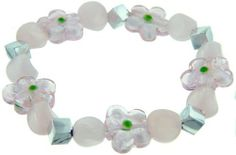 Pugster Pink Flowers Ideas Mother Beads Murano Glass Bracelet Pugster. $12.59. Necklace Size (mm): troll/chamilia Bracelet. Size (mm): 9.86*13.16*13.61. Weight (gram): 2. Metal: morano glass. Note: Snake chain is not included ; every piece of hand-made glass is slightly different in pattern and shape.. Save 10%!