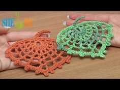 How to Crochet Spider Web Leaf Tutorial 15 from Sheruknitting on youtube - loads of great tutorials with english audio!
