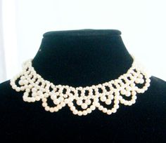 Victorian Pearl Choker 1417 Adjustable Clasp by PaganCellarJewelry, $23.00