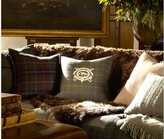 Tartan and tweed pillows