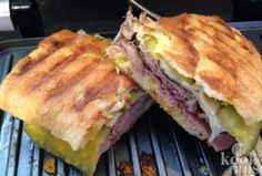 Cubanos are pressed sandwiches with roast pork, ham, pickles, cheese and mustard. Recipe from Chef! Cuban Recipes, Chef Recipes, Wine Recipes, Cooking Recipes, Sandwich Cubano, Movie Chef, Can Cats Eat Ham, Chef Shows, Homemade Ham