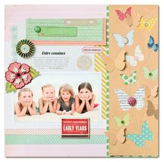 Stephanie Degan's beautiful layout on Crate Paper blog