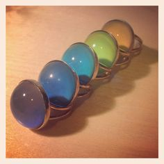 Sterling Silver Mood Rings by DarkHeritage on Etsy