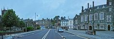 A wide view of one of the many ways into Tavistock including Bedford Square.