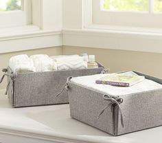 I love the Medium Tie Side Reversible Storage, Gray Flannel on potterybarnkids.com