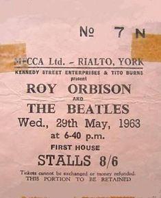 29 May 1963 - UK, Rialto Theatre, York - Beatles & Solo Photos & Videos Forum Rialto Theater, Solo Photo, Roy Orbison, The Beatles, Theatre, York, Videos, Photos, Pictures