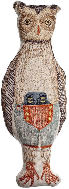 Coral and Tusk - owl pocket doll (with pull out binoculars in his pocket!)