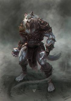 Henrylde ,The Eviscerator Dark Fantasy Art, Fantasy Rpg, Fantasy Artwork, Furry Wolf, Furry Art, Fantasy Character Design, Character Art, Viking Power, Wolf Warriors