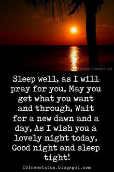 cute good night quotes sleep well as i will pray for you may