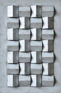 Wall Patterns, Textures Patterns, Luminaire Mural, Concrete Furniture, Concrete Crafts, Sculpture Projects, 3d Wall Art, Texture Design, Sustainable Design