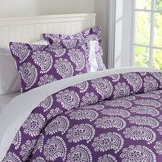 All Things Purple   all things purple / Punchy Paisley Duvet Cover & Sham   PBteen