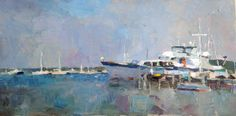 """Larry Horowitz, """"The Kel-di"""", 14 x 28, Oil on Canvas 