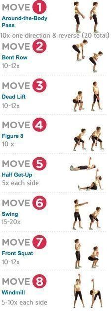 Kettle bell #workouts, you can substitute it with dumbbells http://www.totalfitness.com//?utm_medium=social&utm_source=pinterest