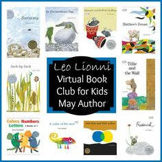 Leo Lionni is May's Featured Author for the Virtual Book Club for Kids