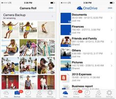 Microsoft OneDrive mobile app lets you access shared data -- smart photo back-up option.