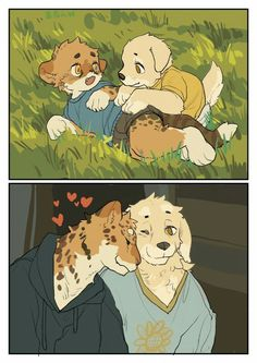 We grew up together~ and we shall forever be together~ .time is such a twisted thing is it not? Haha, in such little amount of… Furry Wolf, Furry Art, Animal Drawings, Cute Drawings, Character Art, Character Design, Furry Comic, Anime Furry, Samurai Art