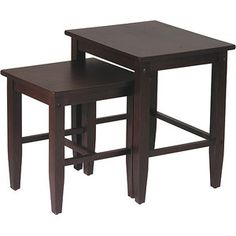 Contemporary Nesting End Tables, Set of 2, Espresso for the inlaws (maybe two sets?)