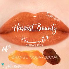 Learn to mix it up. Use LipSense Mixology to create this Harvest Bounty LipColor by layering Orange Soda and Cocoa.  Click thru to purchase yours NOW! #lipsense #mixitup