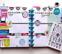 a custome-made Gratitude/Faith Planner by mambi Design Team member Casie Guiterrez using The Happy Planner™ system |…