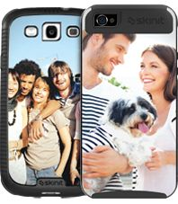 skinit has custom covers for laptops and phones with photos and your business log