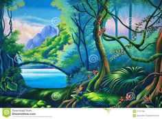 Images For > Jungle Clipart Background