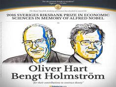 Oliver Hart and Bengt Holmstrom win the Nobel Prize in Economics - Economic Times