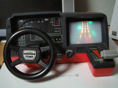 Tomy Turnin' Turbo Dashboard driving simulator from the early 80s - I loved playing this at my friend's house