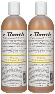 c. Booth Original Bath & Shower Cleanser, 16 oz by c. Booth. $55.00. This is the original mild cleansing elixir that put Booth?s on the shower map. Our secret? Vitamins. Aloe Vera. Sesame seed oil. And believe it or not, horse chestnut seed extract. All enhanced with a comforting scent the whole family can call its own.