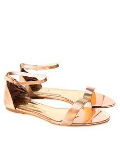 Ankle strap sandal - Rose Gold | Swimwear & Beachwear | Ted Baker UK