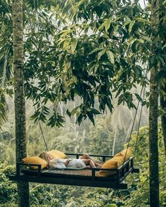Relaxing at the Kamadalu Ubud Resort in Bali. 📷 by Aggie Lal. Places To Travel, Travel Destinations, Travel Things, Bali Travel, Wanderlust Travel, Luxury Travel, Hammock, Travel Inspiration, Beautiful Places