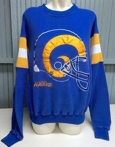 NFL Mens VTG St Louis Rams Hoodie Sweatshirt Sz XL Extra Large Blue Los  Angeles  8f23fcb97