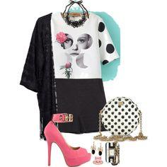 Polka dot fun! 455 by adgubbe on Polyvore featuring polyvore, fashion, style, H&M, Zara, Shoe Republic LA, Dolce&Gabbana, La Mer, Tasha and Napier