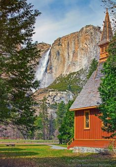 AMAZING VIEW OF YOSEMITE FALLS IN YOSEMITE NATIONAL PARK CALIFORNIA.... Relax with this nature photo. #Relax more with this #free #music with #BinauralBeats that can #heal you. #landscaping #LandscapingIdeas #landscapeDesign