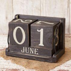 Wooden Blocks Calendar