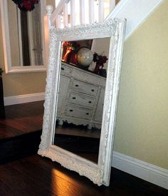 FABULOUS Large White Ornate Mirror Shabby Chic by shabbyshores, $250.00  Shabby Chic Mirror Annie Sloan