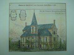 Mt. Ida Memorial Presbyterian Church in Troy, New York. M. F. Cummings. 1879. Original Plan