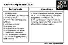 Abuelo's Papas con Chile - Mexican Mashed Potatoes - Beyer Beware
