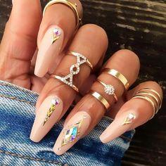 Ballerina Nails Ideas That Speak For Themselves ★ See more: http://glaminati.com/ballerina-nails/