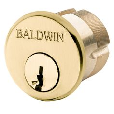"""Baldwin 8328 2"""" Mortise Cylinder C Keyway Non-Lacquered Brass Part Cylinder Mortise"""