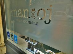 Subtle but effective. We just love this install we did for the guys at Man-oj mens grooming in London #logotag