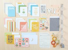 LISSE STREET Project Life® Kit at @studio_calico // In a Creative Bubble Journaling Cards