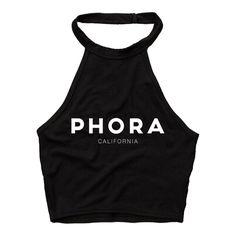 Image of PHORA HALTER TOP [BLACK]