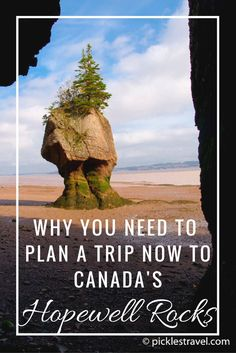 Plan your next Road Trip vacation to Canada's Bay of Fundy to enjoy the beautiful National Park at Hopewell Rocks in New Brunswick- including tips on when to go, where to stay and things to do while there!