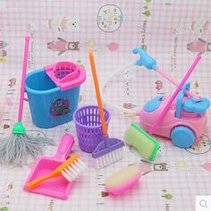 Cheap Método de envío gratis, Dolls alto grado Kit de limpieza para la muchacha muñecas barbie, herramientas de limpieza del hogar para muñecas Barbie ( 1 Unidades = 9 unids ), Compro Calidad Accesorios de Muñecas directamente de los surtidores de China:        Equipamiento del hogar limpieza Kit 9 unidades traje, pero Bobbi buen ayudante de la madre oh, los niños también